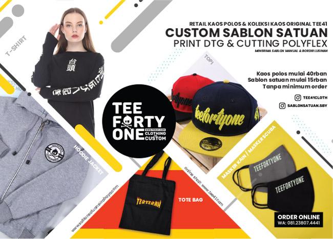 Custom kaos sablon kaos satuan Surabaya - TEE41 Clothing & Custom