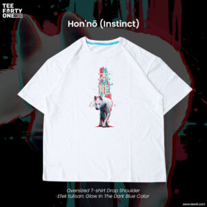Kaos Oversize Glow In The Dark Instinct