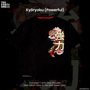 Kaos Oversize Kyōryoku Powerful Glow In The Dark